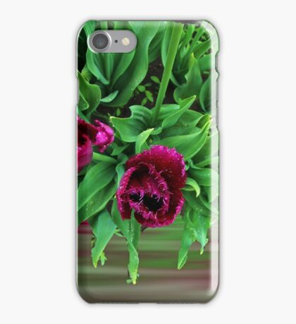 Maroon Tulips iPhone Case/Skin