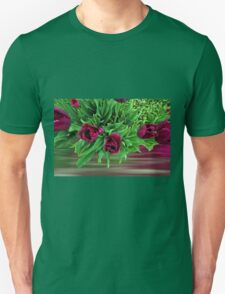 Maroon Tulips T-Shirt