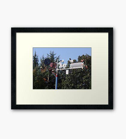 Whirligig In The Wind Folk Art Framed Print