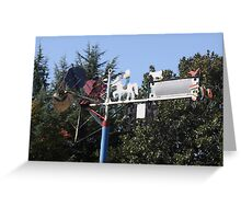 Whirligig In The Wind Folk Art Greeting Card