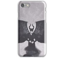 Original Realism Charcoal Drawing of Angelina Jolie as Maleficent iPhone Case/Skin