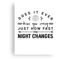 FOUR Night Changes Canvas Print