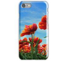A field of Orange Tulips iPhone Case/Skin