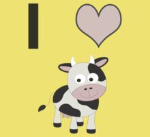 I heart Cows One Piece - Short Sleeve