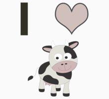 I heart Cows Kids Clothes