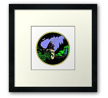 Contemplating a world Framed Print