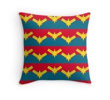 Captain Marvel Throw Pillow