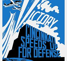 Cincinnati Speeds Up For Defense -- WW2 Poster by warishellstore