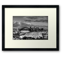 The City #2- A Study In Black & White - The HDR Experience Framed Print