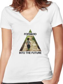 Forward Into the Future Women's Fitted V-Neck T-Shirt