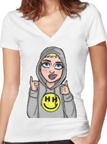 Happy Hippie Foundation Logo [Hoodie] Women's Fitted V-Neck T-Shirt