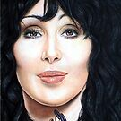 Cher Color Pencil @ www.KeithMcDowellArtist.com by  Keith McDowell, Artist