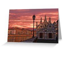 Arno Embankment. Church of Santa Maria della Spina. Greeting Card