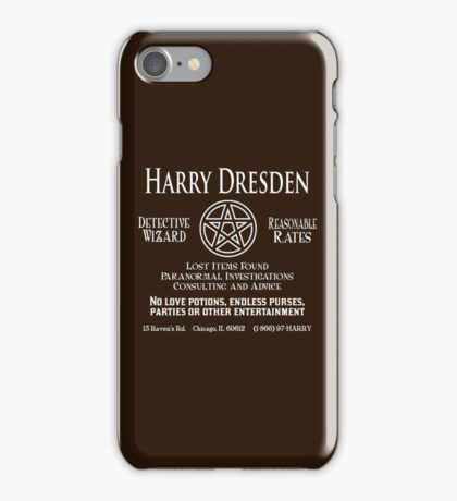Harry Dresden - Wizard Detective iPhone Case/Skin