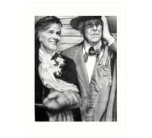 Frank Lloyd Wright @ www.KeithMcDowellArtist.com  Art Print