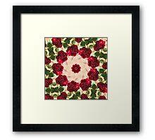 Old Red Rose Kaleidoscope 13 Framed Print