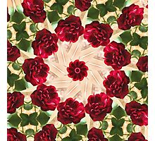 Old Red Rose Kaleidoscope 13 Photographic Print