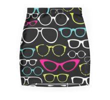 Retro Eye Glass Parade Mini Skirt