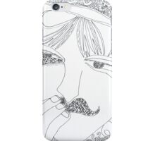 man with mustache iPhone Case/Skin