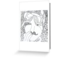 man with mustache Greeting Card