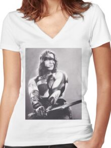 Conan the Barbarian Women's Fitted V-Neck T-Shirt