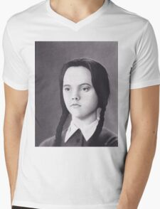 Wednesday Addams Mens V-Neck T-Shirt