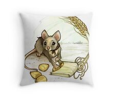 Timid Field Mouse Throw Pillow