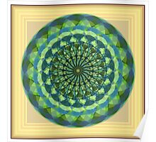 Mandala With 18 sided polygons Poster