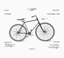 Patent: O Connor, Bicycle - Black Ink One Piece - Long Sleeve