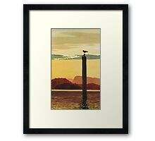 """Orcas Island Sunset"" Watercolor Framed Print"