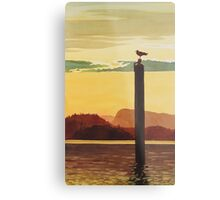 """Orcas Island Sunset"" Watercolor Metal Print"