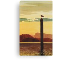 """Orcas Island Sunset"" Watercolor Canvas Print"