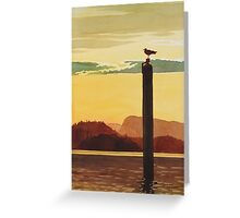 """Orcas Island Sunset"" Watercolor Greeting Card"
