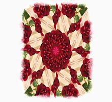 Old Red Rose Kaleidoscope 14 Unisex T-Shirt