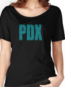 PDX Portland Airport Carpet Oregon Women's Relaxed Fit T-Shirt