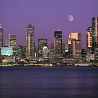 Seattle, Washington city skyline at night by Jeff Hathaway