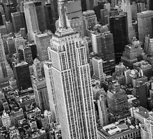 Empire State Building Aerial by Randy  Le'Moine