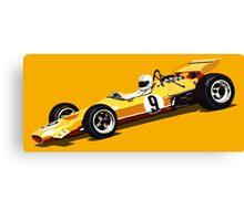 Orange Grand Prix Racer Canvas Print