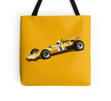 Orange Grand Prix Racer Tote Bag