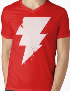 White Lightning Mens V-Neck T-Shirt