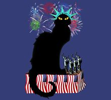 Lady Liberty - Patriotic Le Chat Noir  Unisex T-Shirt