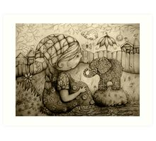 There's an Elephant in My Garden Art Print