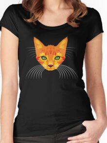 orange cat tee Women's Fitted Scoop T-Shirt