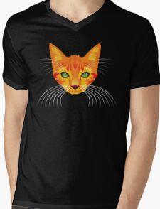 orange cat tee Mens V-Neck T-Shirt