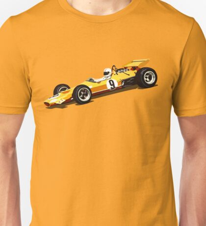 Orange Grand Prix Racer Unisex T-Shirt