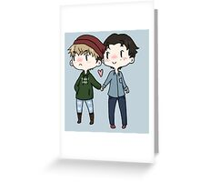Red Beanies and Gay Babes Greeting Card