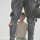 Young interloper with historic statue by DAdeSimone