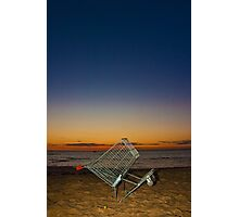 Shopping in Sunset Photographic Print