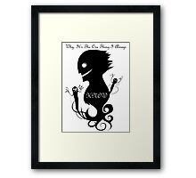 Peoples Greatest Fears Framed Print