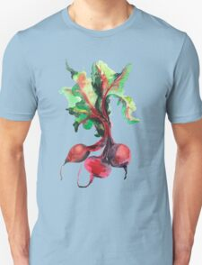 Watercolor image of beet root on white background.  T-Shirt